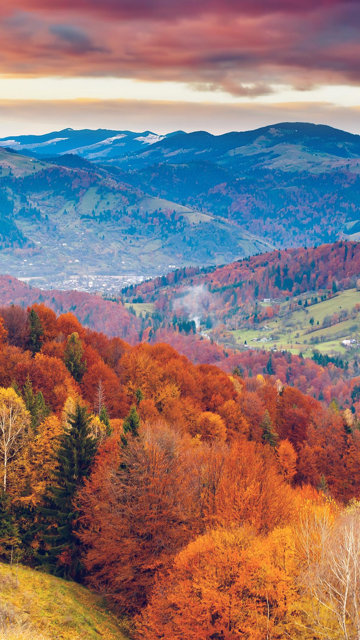 IPhone Wallpaper Mr50 Fall Mountain Fun Red
