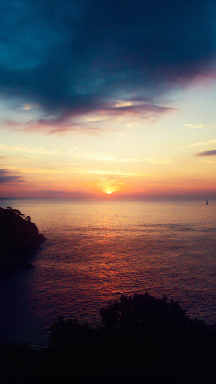 Nb90 Sky Sunset Sea Nature Night Wallpaper