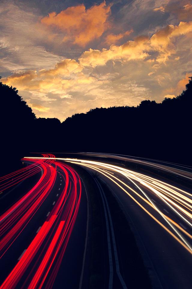 2732x2732 street car japan night wallpaper. Ni08 Night Drive Car Light Red Dark Blue Wallpaper