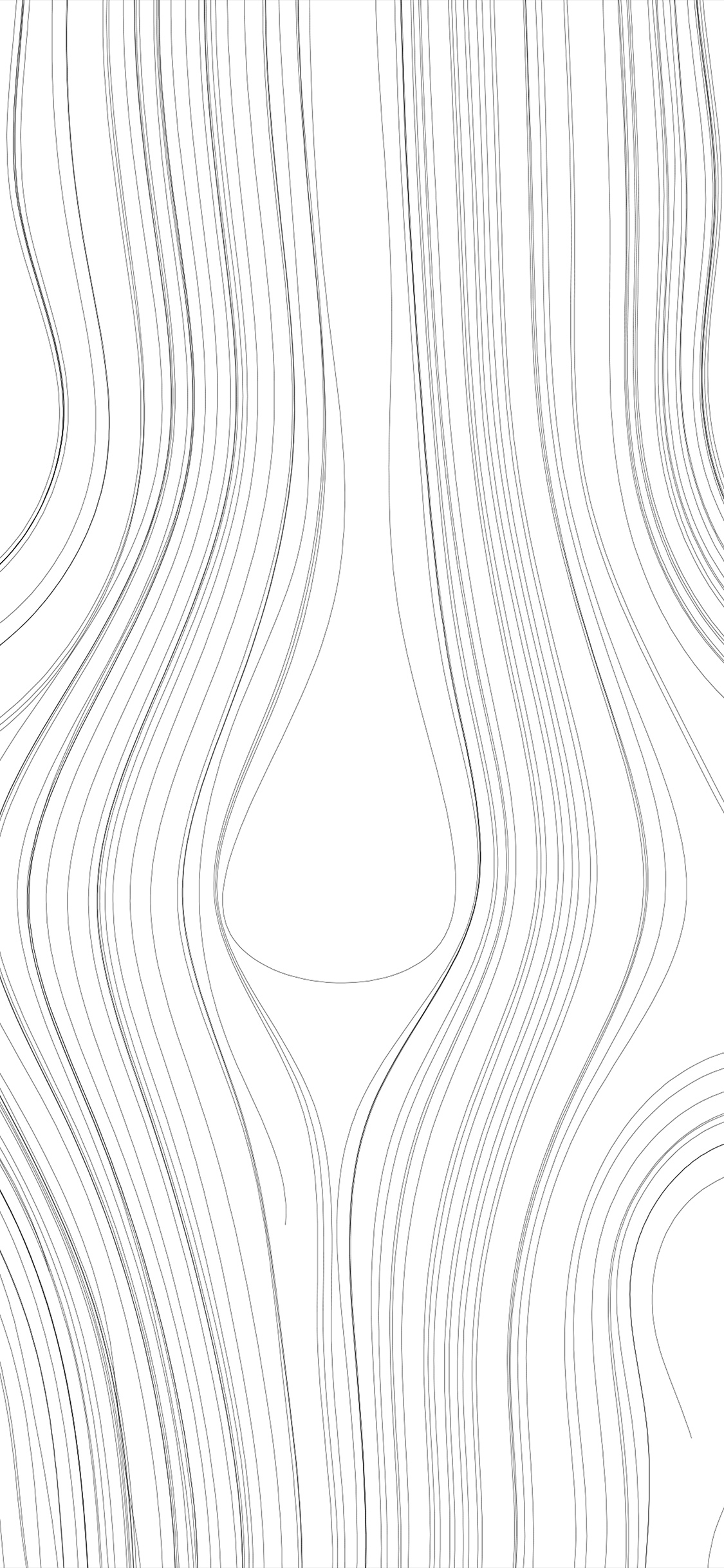Vn89 Lines Curve White Bw Pattern Wallpaper