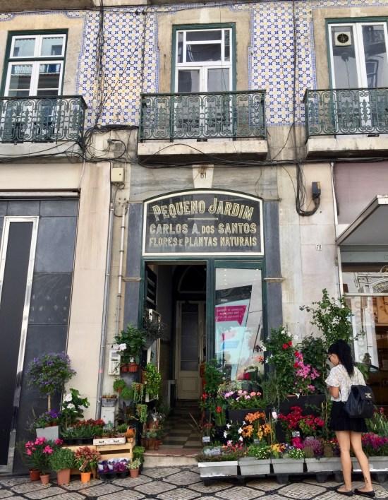 Chiado Lisbon flower shop