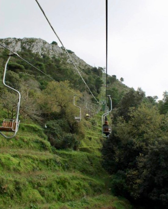 Mount Salaro chairlift Capri Italy