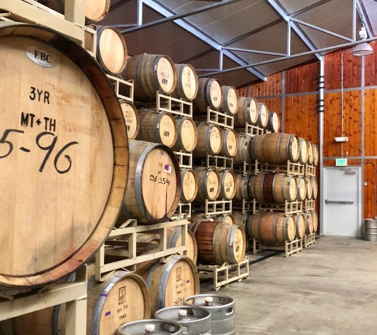 Wine cellar Agua Dulce Winery California