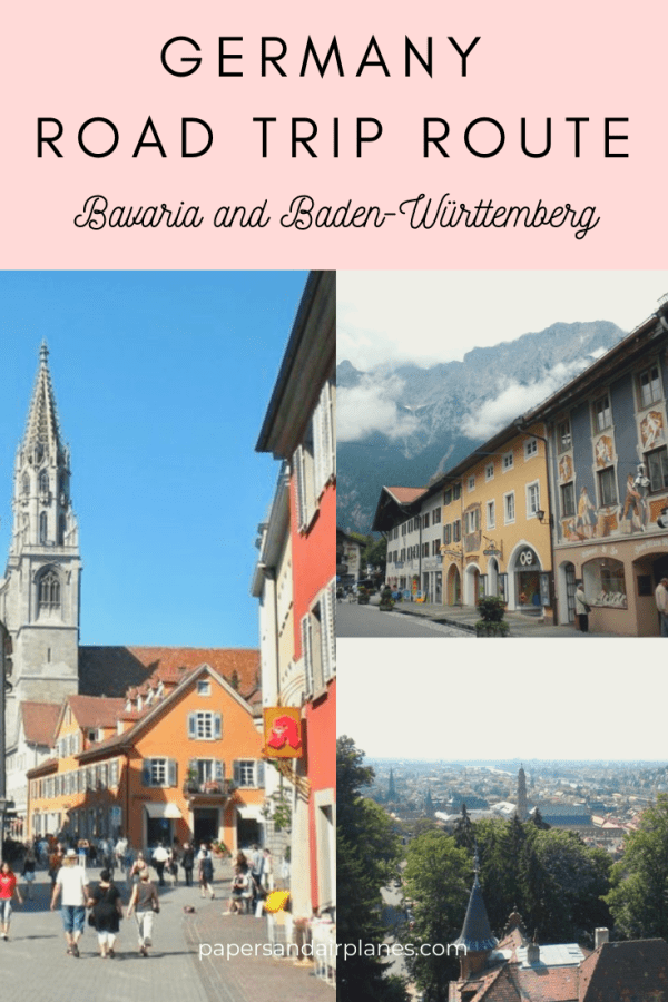 Southern Germany Road Trip Route