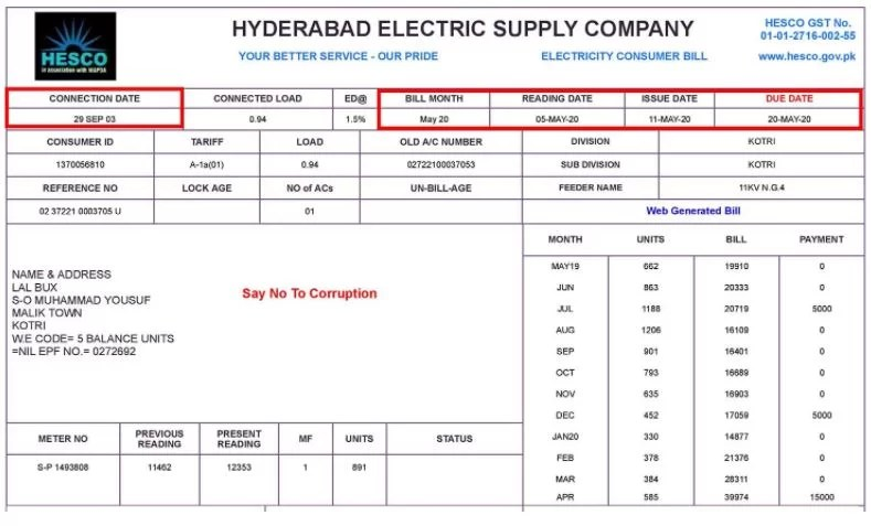 hesco online bill, Duplicate Bill of HESCO 2021, check view download and print previous month hesco bills online on papersjobs,