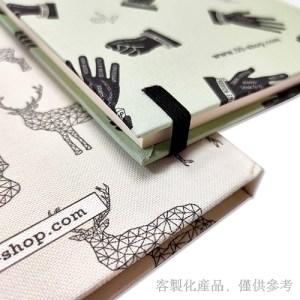 精裝筆記本-軟式布料