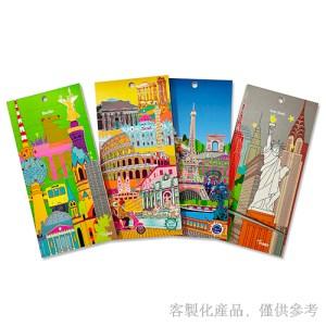 便條紙客製化-客製化城市景點磁鐵便條本