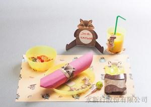 紙餐墊動物派對組花栗鼠-83-04PCM,2