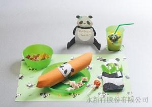 紙餐墊動物派對組貓熊-DIY貓熊,3