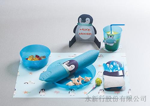 紙餐墊動物派對組企鵝-DIY企鵝,0