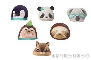 紙餐墊動物派對組貓熊-DIY貓熊,1