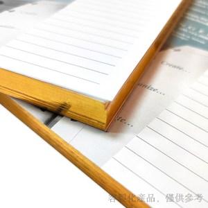 銀邊筆記本活頁紙-客製化燙金,1