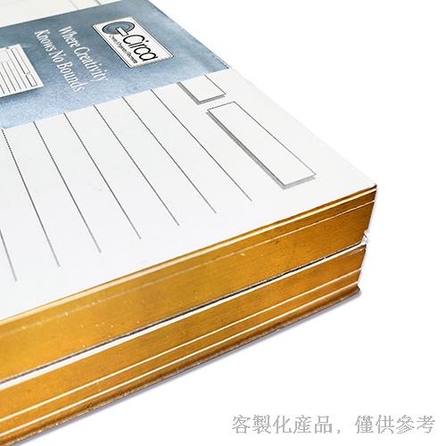 銀邊筆記本活頁紙-客製化燙金,0