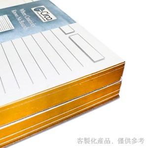 銀邊筆記本活頁紙-客製化燙金,2