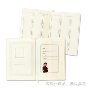 客製化縫線精裝圓角日誌-筆記本日誌,2