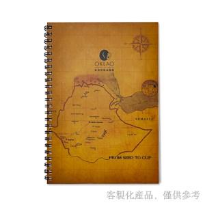 客製化石頭紙雙線圈筆記本,4