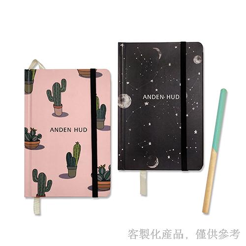 客製化印刷縫線精裝筆記本組-筆記本