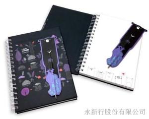 灣ㄟ麻吉系列磁鐵書籤筆筆記本-筆記本_80-50NP,2