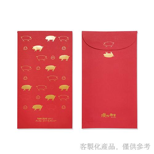 客製化精品燙金打凸紅包袋-精品燙金打凸紅包袋