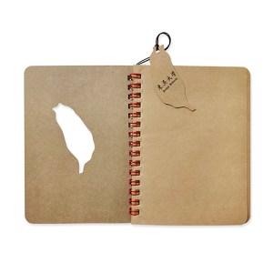 客製化斬型雙線圈牛皮筆記本-牛皮筆記本,2