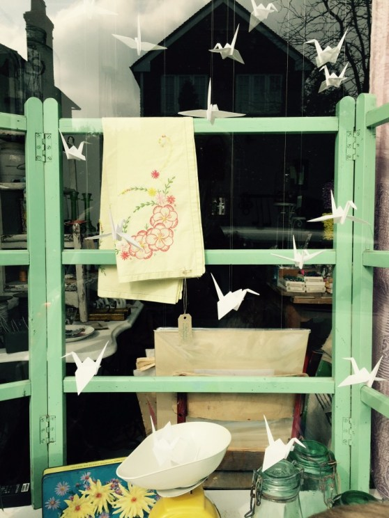 paper swans window