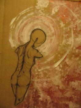 Wayward (Acrylic, Charcoal, Cardboard)