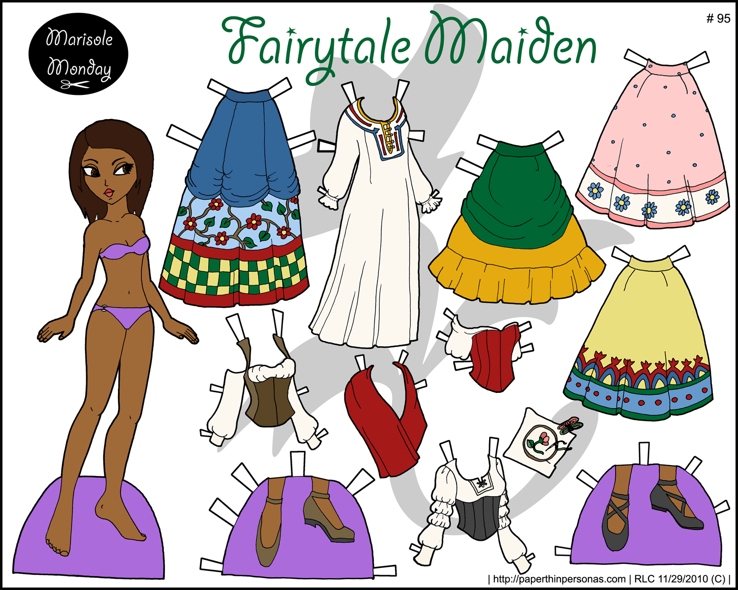 Marisole Monday Full Color Printable Paper Doll