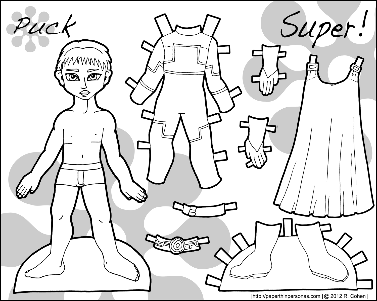 Puck Paper Dolls For Boys