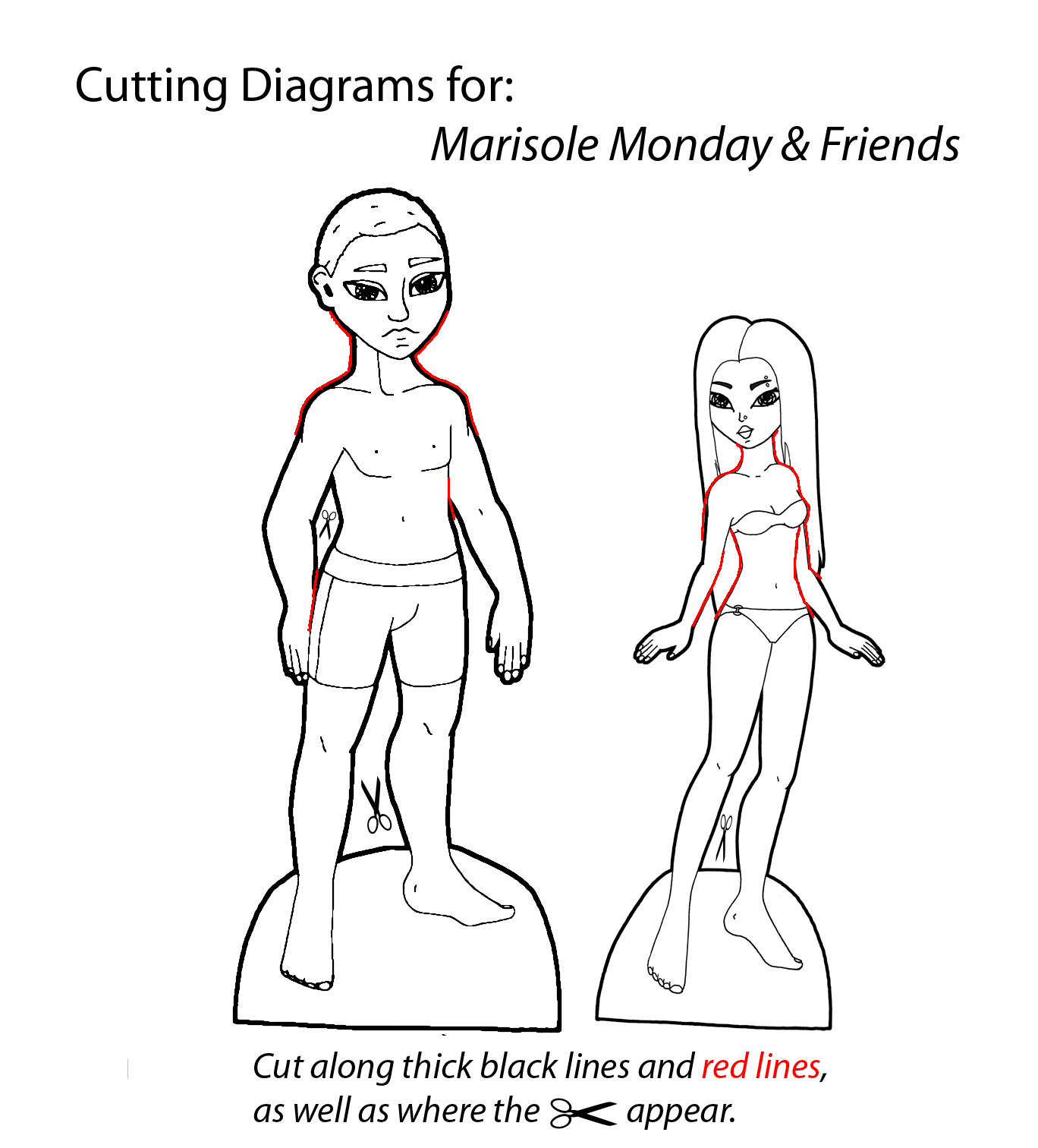 How To Cut Out The Paper Dolls Paper Thin Personas