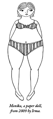 A paper doll drawn by Irma