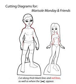 Cutting Diagram for Marisole & Friends
