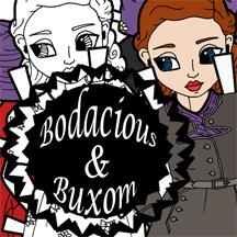 Bodacious & Buxom logo- 1940's Vixen