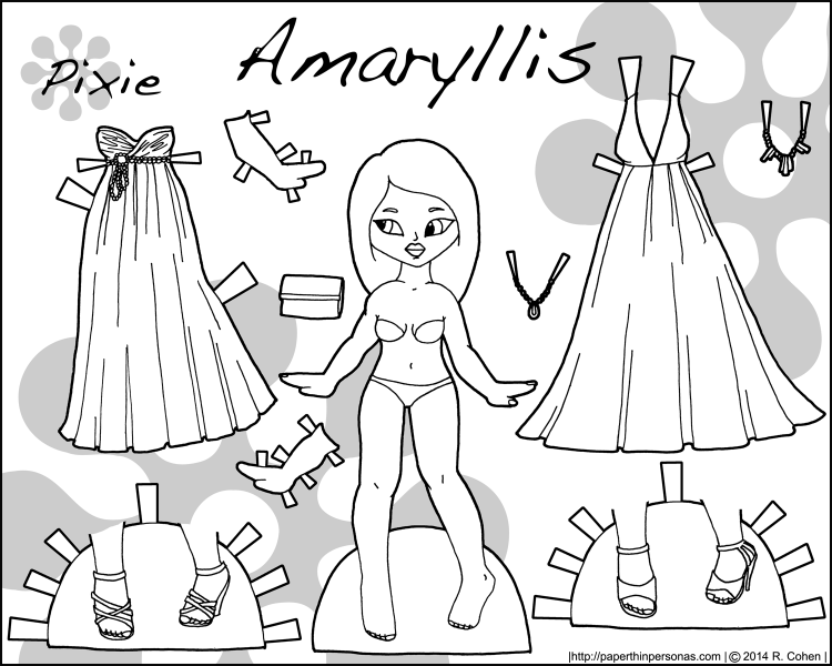 amaryllis-paper-doll-bw