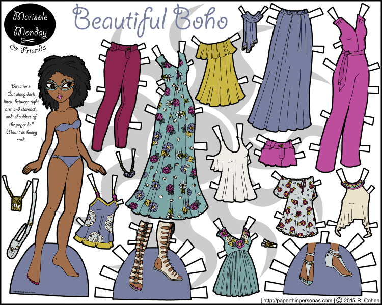 beautiful-boho-contemporary-paper-doll