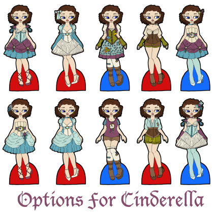 cindrella-outfit-options