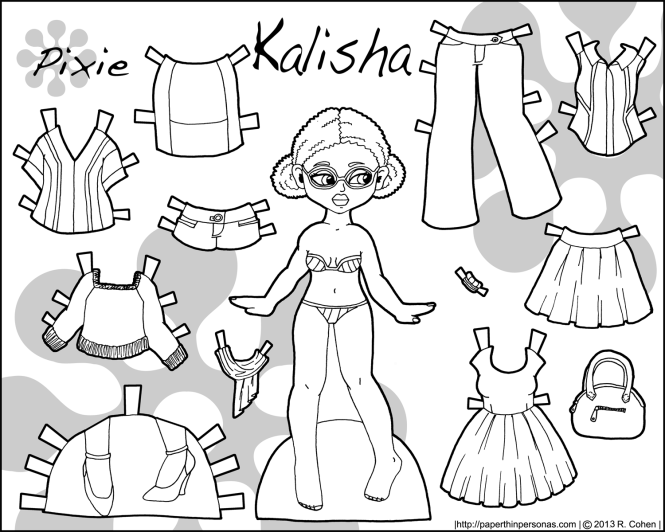 kalisha-black-white-pixie-paper-doll