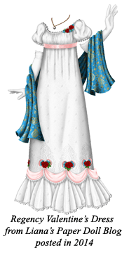 Paper doll gown by Liana of Liana's Paper Doll Blog. Posted with Permission.
