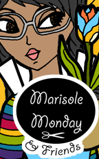Logo image for Marisole Monday & Friend Series. Printable paper doll with glasses and a gardening theme.