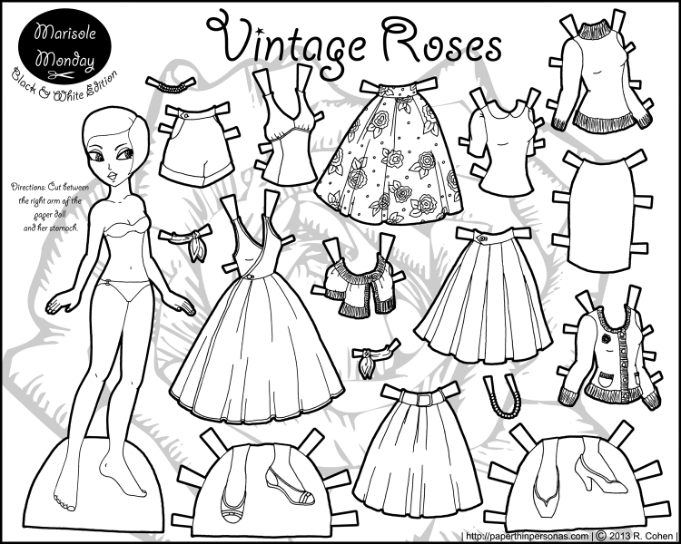 marisole monday vintage roses paper thin personas. Black Bedroom Furniture Sets. Home Design Ideas