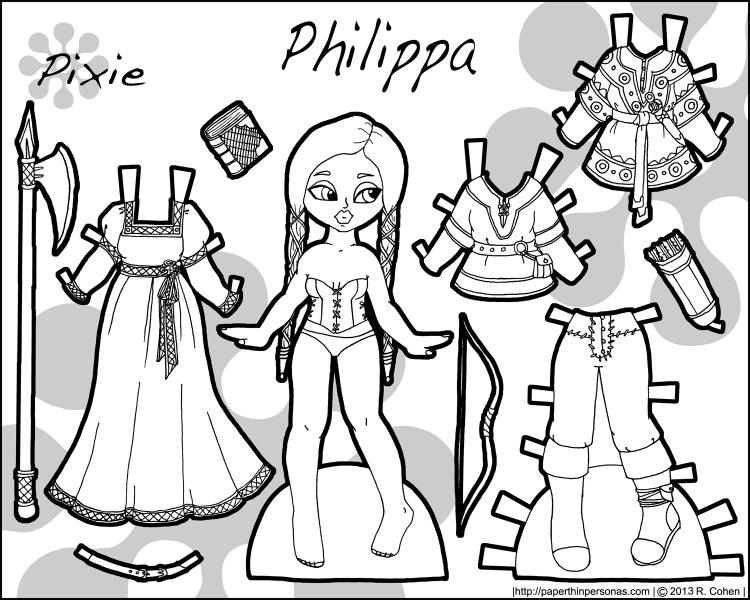 philippa-fantasy-pixie-paper-doll-bw