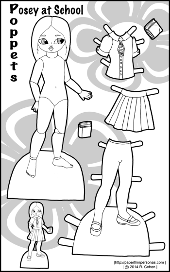 printable-paper-doll-posey-bw
