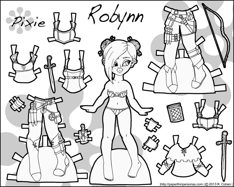 robynn-fantasy-pixie-paper-doll-bw