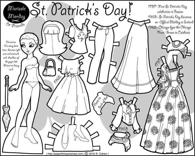 saint-patrick-day-paper-doll-bw