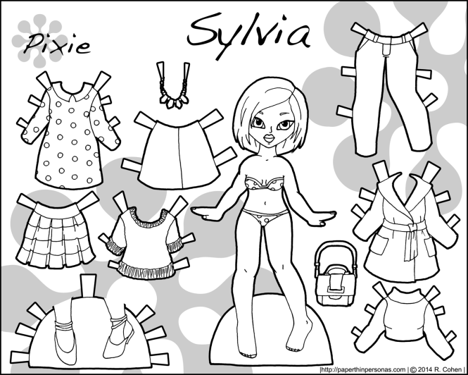 sylvia-pixie-paper-doll-bw