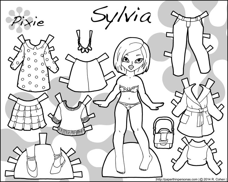 sylvia-pixie-paper-doll-bw