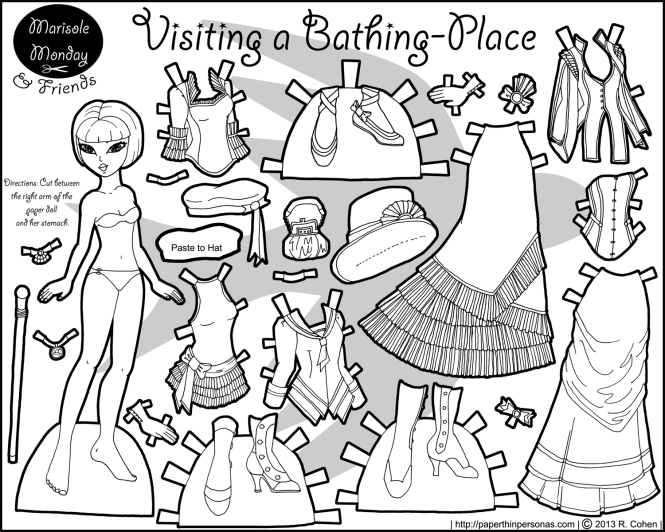 A jaunty collection of neo-victorian fashions for Mia. her mix and match wardrobe includes 18 pieces for a lady-like day at the seaside,. Free to print and color.