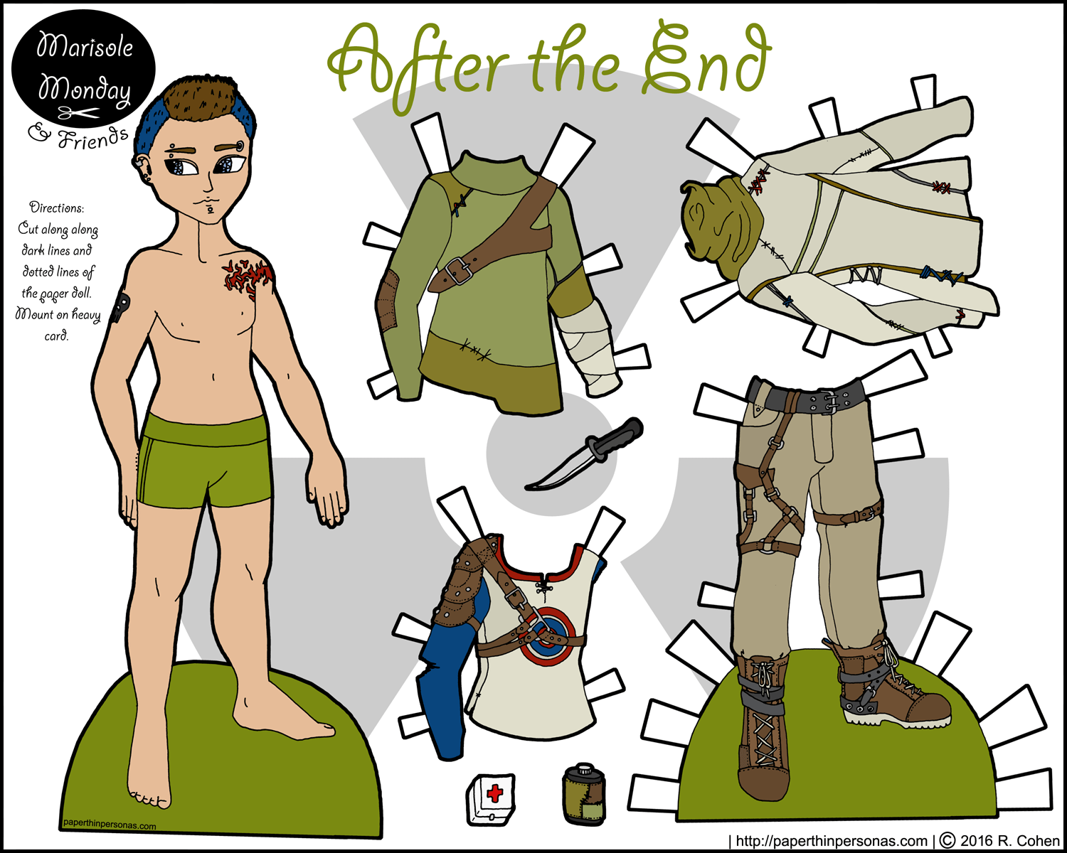 Mikhail at the After the End: A Male Paper Doll