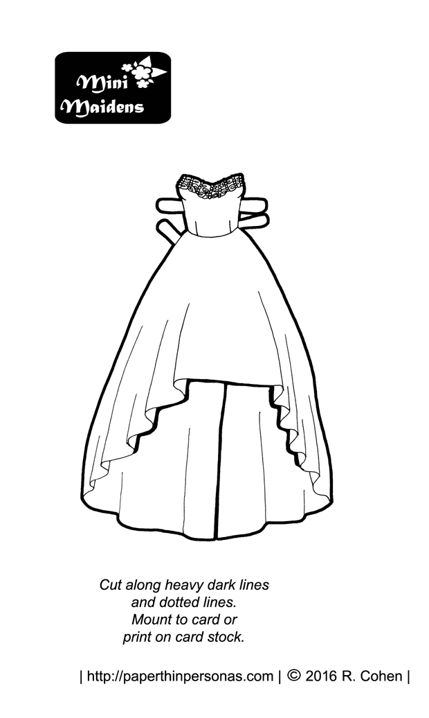 A Paper Doll Prom Dress For The Mini Maiden Series Featuring High Low