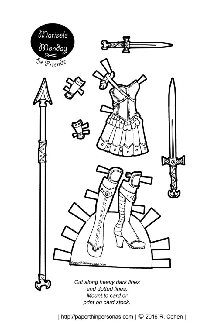 Marisole Monday & Friends: Fantasy Warrior Printable Paper
