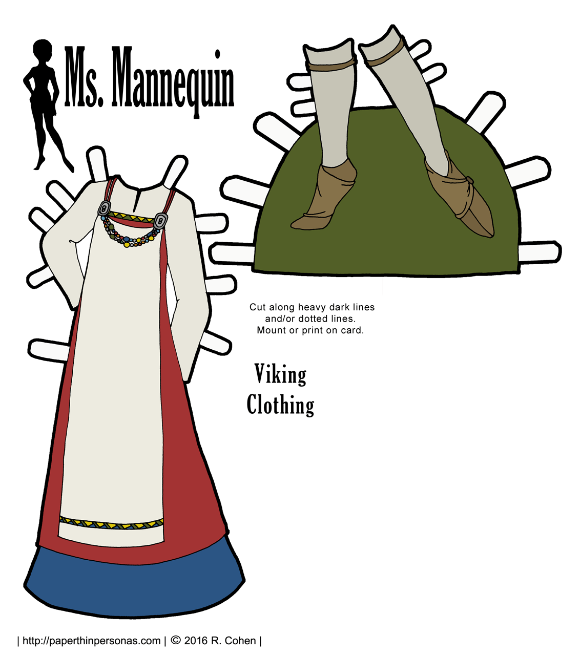 Ms Mannequin As A Paper Doll Viking Paper Thin Personas